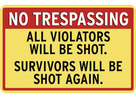 reasonable force on trespassers